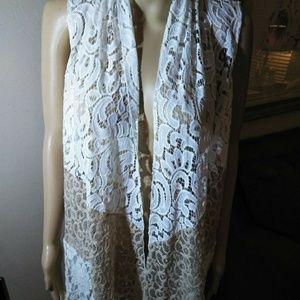 Chico's lace long vest